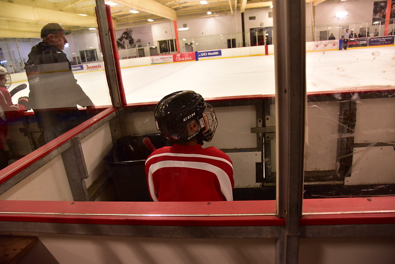 Mason sitting in the penalty box