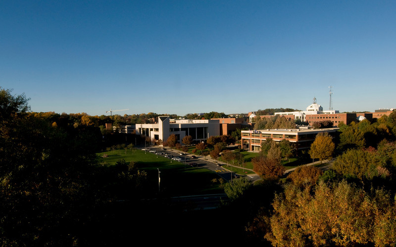 View of Fairfax Campus from Patriot Center roof. Photo by Evan Cantwell