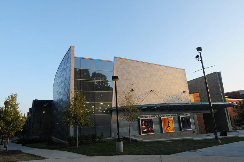 Donald and Nancy de Laski Performaning Arts Building. Photo by Evan Cantwell