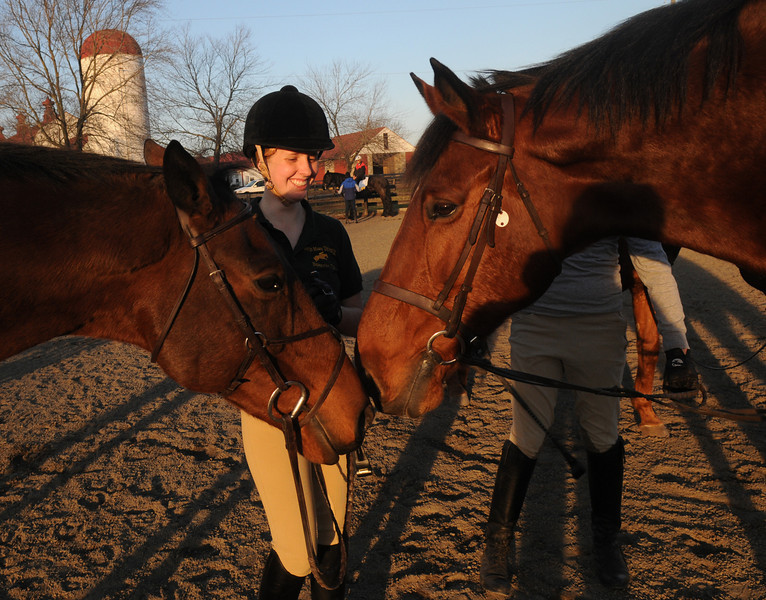 Mason Equestrian Club students ride horses on local farms in Virginia. Photo by Evan Cantwell