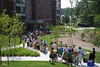 Incoming freshmen and their families move in to the residence halls on the Fairfax Campus.