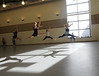 College of Visual and Performing Arts dance students rehearse in the new Donald and Nancy de Laski Performance Arts Building. Photo by Evan Cantwell