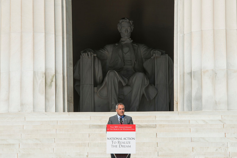 President Ángel Cabrera speaks at the 50th anniversary celebration of the March on Washington