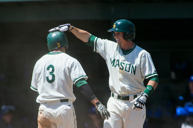 George Mason Baseball team plays to Saint Louis University. Photo by Craig Bisacre/Creative Services/George Mason University