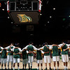 George Mason Patriots line up for the National Anthem against the Fordham Rams at the Patriot Center. Photo by Craig Bisacre/Creative Services/George Mason University