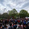 Hundreds students, faculty and community members gather in South Plaza on George Mason University Fairfax Campus for a candlelight vigil for the victims of the earthquake in Nepal. Photo by Craig Bisacre/Creative Services/George Mason University