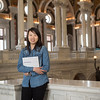 """Student Thitipuk """"Looksorn"""" Teeratrakul at the Library of Congress"""