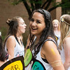 Sorority sisters celebrate bid day.  Photo by:  Ron Aira/Creative Services/George Mason University
