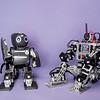 Mini-Hubo robots.  Photo by Ron Aira/Creative Services/George Mason University