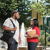 Marjorie Thomas, student working on a Master of Public Administration (MPA) and her husband Henry Thomas, student working on a Master of Social Work (MSW).  Photo by:  Ron Aira/Creative Services/George Mason University