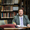 Second-year law student Tim Rodriguez received a scholarship from the Antonin Scalia Law School. Photo by Ron Aira/Creative Services/George Mason University