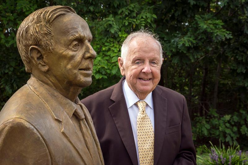 Senator J. Colgan Statue Installation