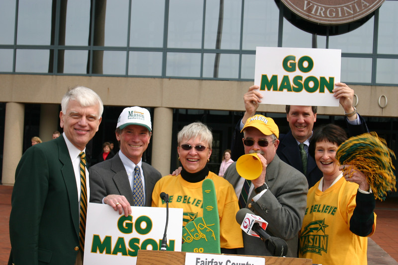 Mason Day at the Fairfax County Government Center in celebration of the run for the Final 4.