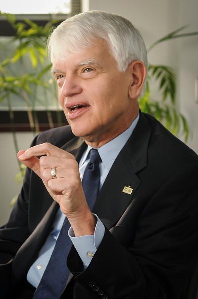 President Alan Merten, 2008. Photo by Evan Cantwell/Creative Services
