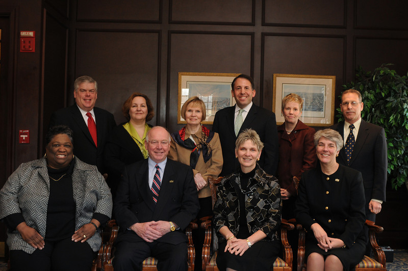 Sally Merten and the College and Health and Human Services Advisory Board. Photo by Evan Cantwell