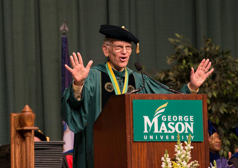 Alan Merten speaks at Commencement 2012. Photo by Alexis Glenn/Creative Services/George Mason University
