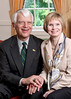 President Alan Merten and wife, Sally Merten, Photo by Evan Cantwell.