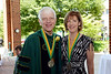 Commencement 2012 Mason Medal recipients Alan G. Merten and Lovey L. Hammel. Photo by Evan Cantwell/Creative Services/George Mason University