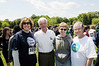 Alan Merten and Linda haber join with members of the Mason community participate in the 16th Annual Victims' Rights Run & Walk in collaboration with the Aimee Willard Endowed Scholarship Fund. Photo by Evan Cantwell/Creative Services/George Mason University