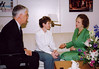 Dr. and Mrs. Merten visit with former British Prime Minister Margaret Thatcher. Dame Thatcher was a speaker at the 1998 World Congress on Information Technology. A biennial event, Mason was the first university to host the WCIT event which brings together leaders in technology from around the world.