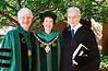 Dr. Merten at the 2005 commencement with former Senator John Warner on the right.