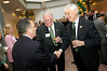 Dr. Merten (r) with Ed Meese (middle) during the reception for the dedication of the Edwin Meese III Conference Room in Mason Hall. Photo by Evan Cantwell