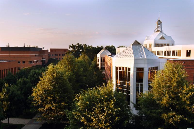 Johnson Center at sunrise.
