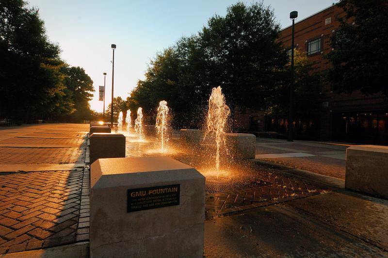 Fountains on the Fairfax Campus