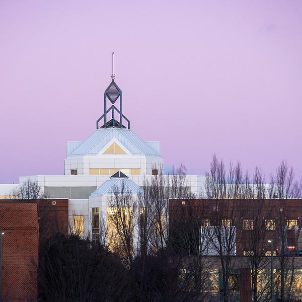 Mason Pond Johnson Center sunset