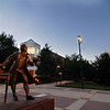 Johnson Center and the Mason statue