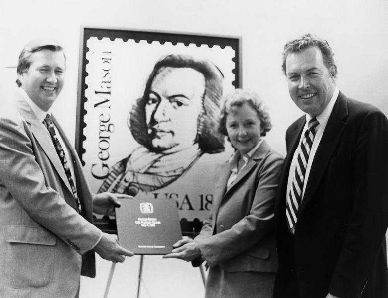 George Mason stamp ceremony, Gunston Hall, April 24, 1981