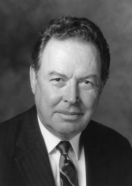 Dr. George W. Johnson, President of George Mason University from 1979–96. Courtesy George Mason University