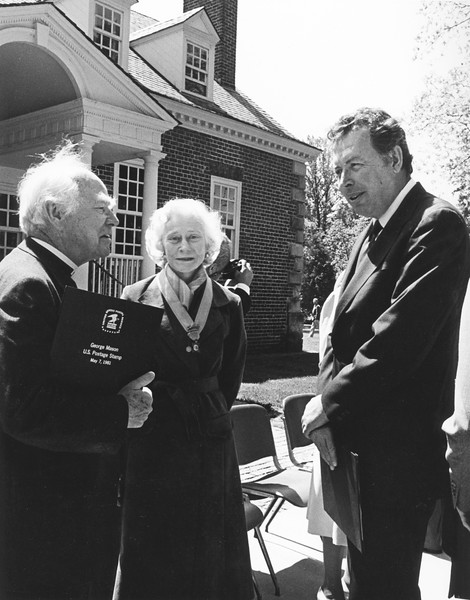 President George W. Johnson at Gunston Hall, circa 1981. Photo by Carl Zitzmann, University Publications.