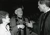 President Alan Merten and wife Sally speaking with Senator Robb.