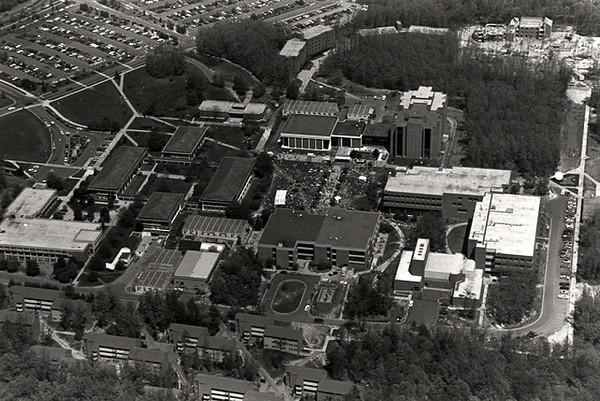George Mason University campus aerial taken in 1984.