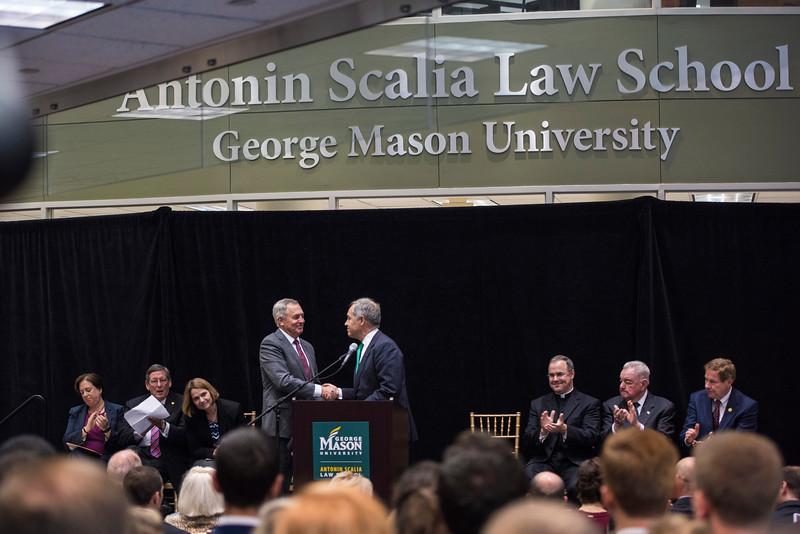 Antonin Scalia Law School Dedication