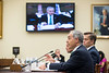 Dr. Ángel Cabrera testifies on The Committee on Science, Space and Technology, Subcommittee on Research and Technology, of the U.S. House of Representatives on the Rayburn House Office Building.  Photo by Ron Aira/Creative Services/George Mason University
