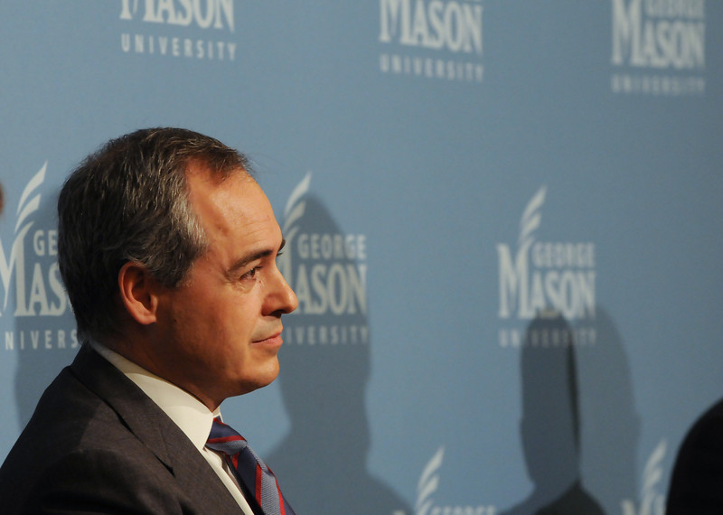 111215327 - Dr. Angel Cabrera, President-Elect of George Mason University on December 15, 2011 at the Mason Inn at Fairfax Campus. Photo by Evan Cantwell/Creative Services/George Mason University