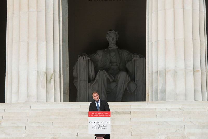 Michael Shank speaks at the 50th anniversary celebration of the March on Washington