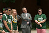 President-elect Ángel Cabrera greets Patriot Leaders during their orientation at Fairfax Campus. Photo by Alexis Glenn/Creative Services/George Mason University