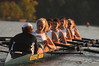 The Women's Rowing team practices on the Occoquan Reservoir. Photo by Evan Cantwell