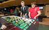Students play foozball at Corner Pocket in The Hub on Fairfax Campus. Photo by Alexis Glenn