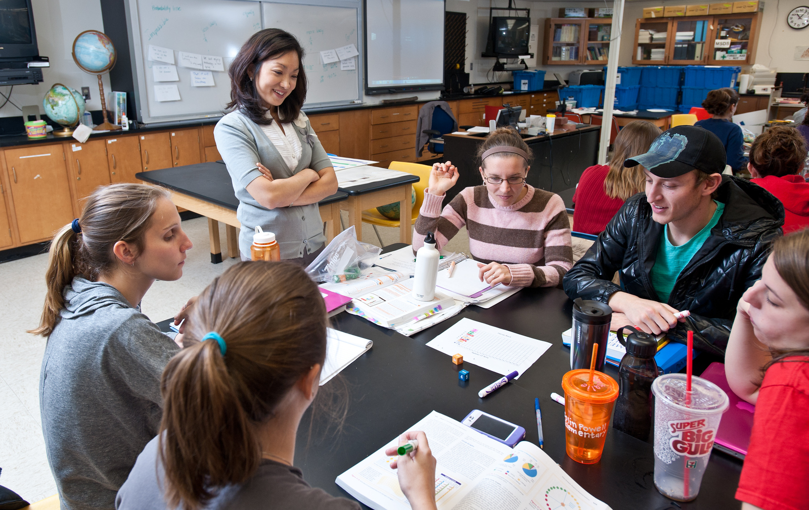 Jennifer Suh, Assistant Professor, Graduate School of Education, College of Education and Human Development teaches an EDCI 552 course, Mathematics Methods for the Elementary Classroom, at George Mason University's Fairfax Campus. Photo by Alexis Glenn
