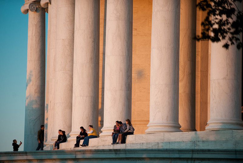 Many timeless DC landmarks, such as the Jefferson Memorial, are minutes away from the George Mason University campus. Photo by Alexis Glenn