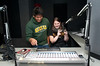 University 100 students visit the studios of the radio station DC 101 in Rockville, Maryland. Photo by Alexis Glenn