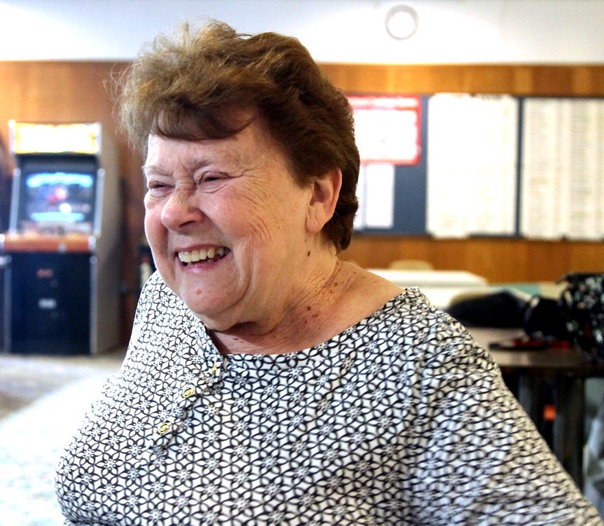 . Member of the Early Birds Bowling Leauge, Linda Starr 75 of Pepperell, talks about what it\'s like bowling in the league and at Mason\'s Bowling Alley in Leominster. Sentinal&Enterprise/ David H. Brow