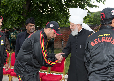 International Masroor Cricket individuals meet Huzur (33 of 349)