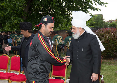 International Masroor Cricket individuals meet Huzur (31 of 349)