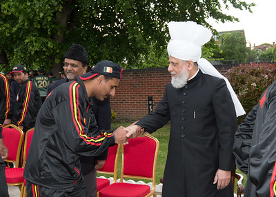 International Masroor Cricket individuals meet Huzur (44 of 349)