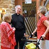 Fr. Tim with visitors